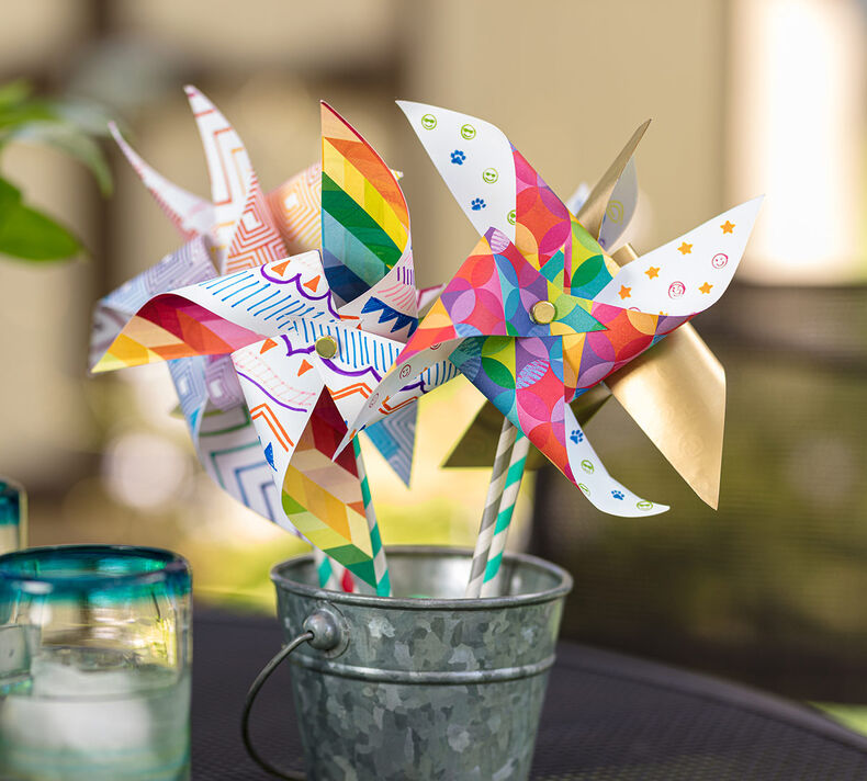 Paper Pinwheel Craft Kit