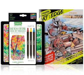 Mandalorian Coloring Gift Set, 16 Dual Tip Markers