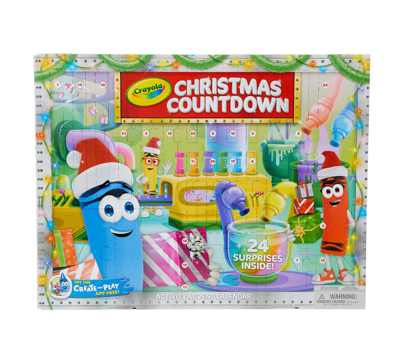 Christmas Countdown Calendar For Kids Crayola Com Crayola