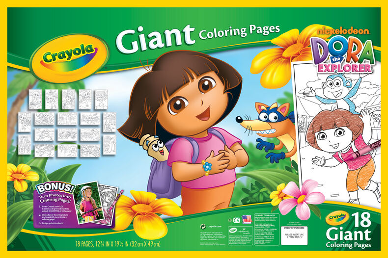 Giant Coloring Pages, Dora the Explorer   Crayola