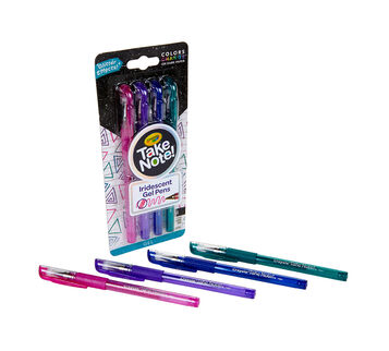 Take Note Iridescent Gel Pens, 4 Count