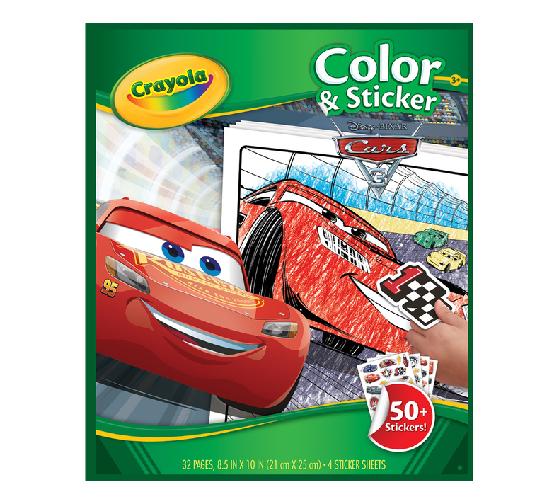 Cars 3 Color and Sticker Book