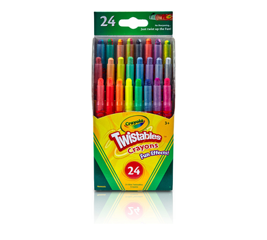 Fun Effects! Twistables Crayons, 24 Count