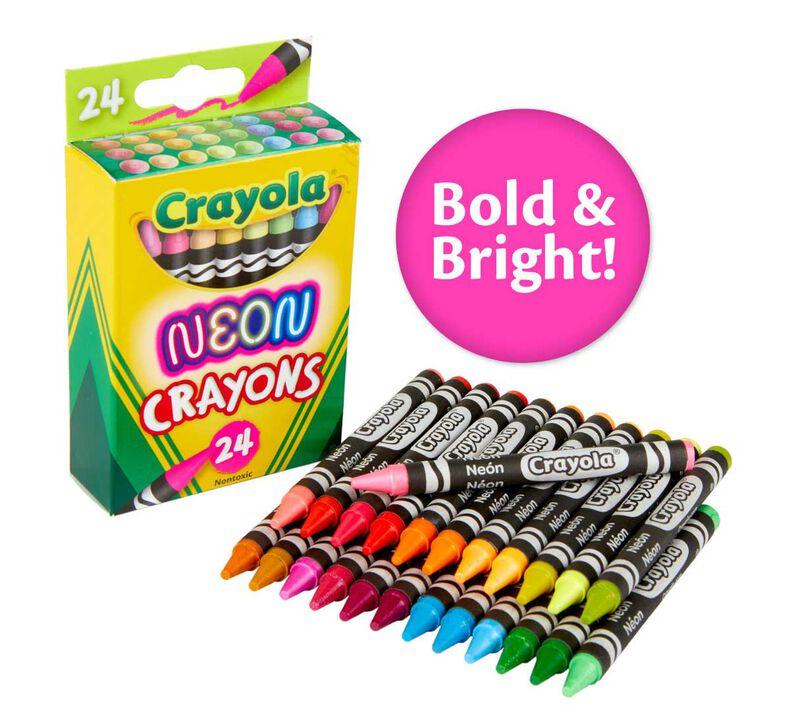 Neon Crayons, 24 Count
