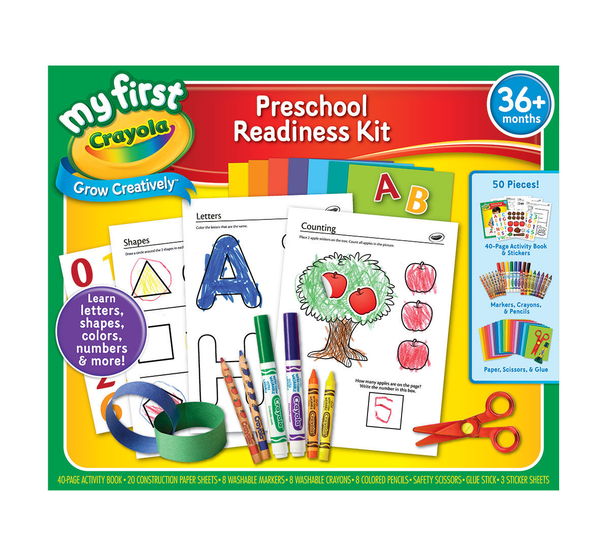my first crayola preschool readiness kit all in one art tools and