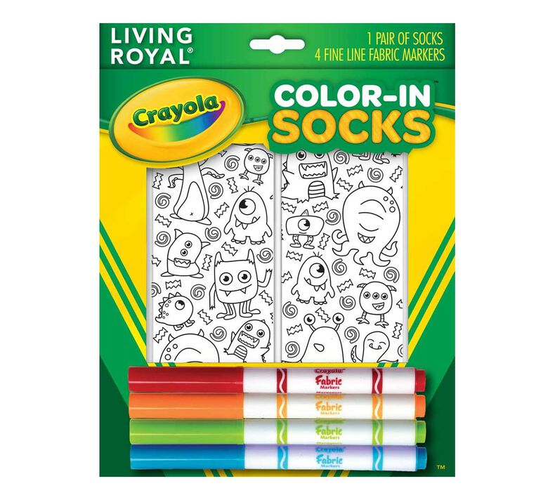 Crayola Color In Socks Monster Party
