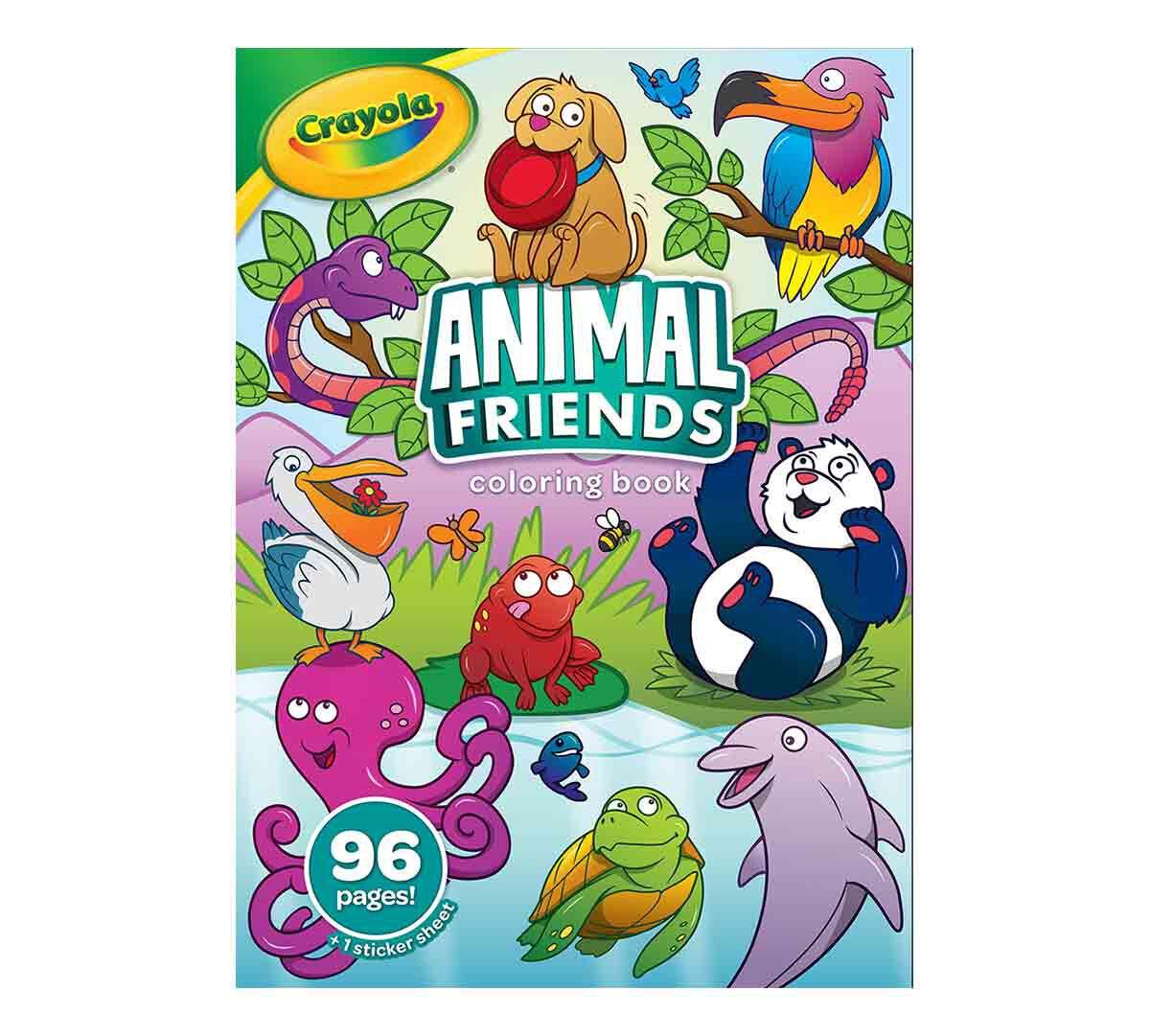 Animal Friends Coloring Book, 96 Pages Crayola.com Crayola