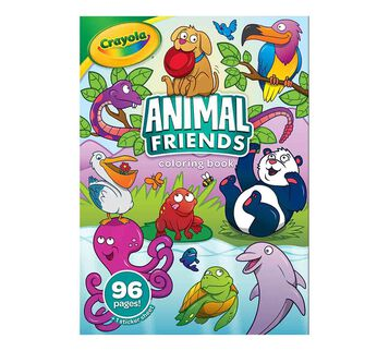 Animal Friends Coloring Book, 96 Animal Coloring Pages Front of Book