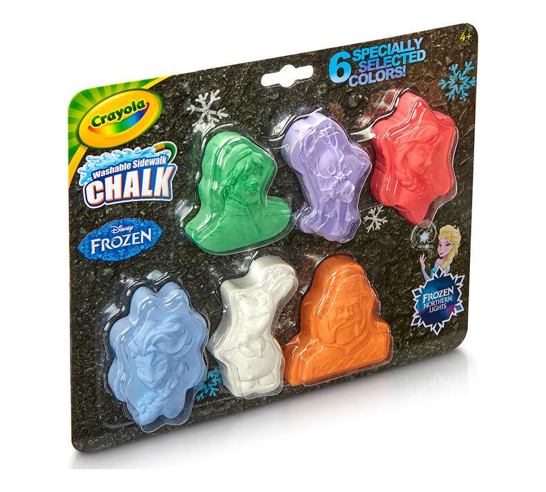 Washable Chalk Shapes, Frozen, 6 count