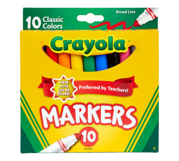 Broad Line Markers, Classic Colors, 10 Count Front View