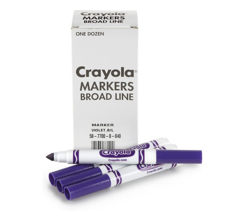 Bulk Broad Line Markers, 12 Count - Choose Your Color