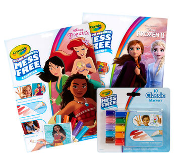 Color Wonder Mess Free Princess and Frozen Coloring Set