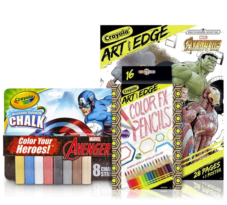Marvel Avengers Chalk & Coloring Gift Set