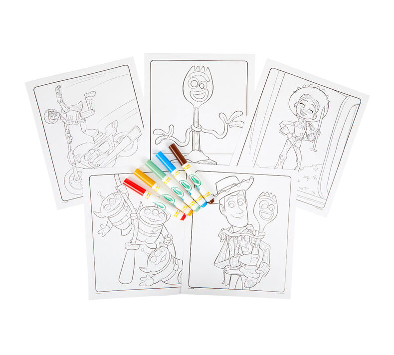 Color Wonder Mess Free Toy Story 4 Coloring Pages & Markers