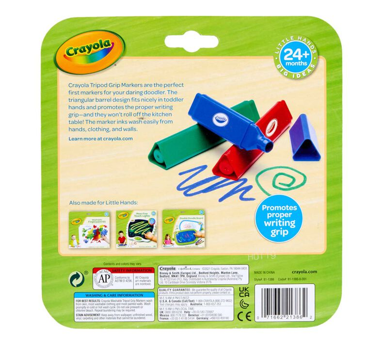 Washable Triangular Markers, 8 Count