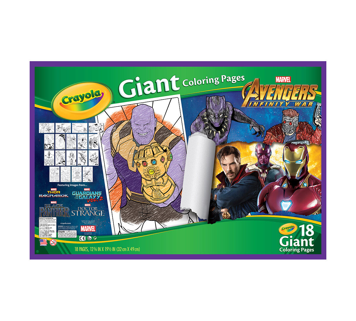 Crayola Giant Coloring Pages Avengers Oversized Coloring