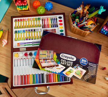 Deluxe Wooden Art Set, Over 75 Pieces