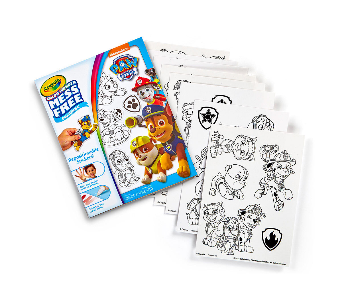Color Wonder Mess Free Stickers, Paw Patrol | Crayola
