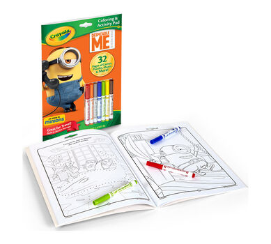 Coloring Activity Pad W Markers Despicable Me