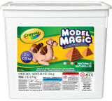 Model Magic 2lb Resealable Storage Container, Natural Colors Front View