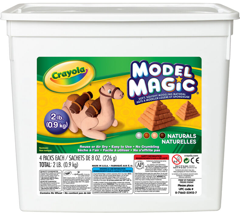 Model Magic 2lb Resealable Storage Container, Natural Colors