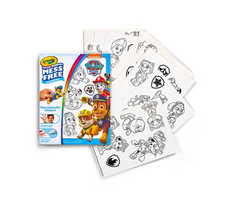 Color Wonder Mess Free Stickers, Paw Patrol