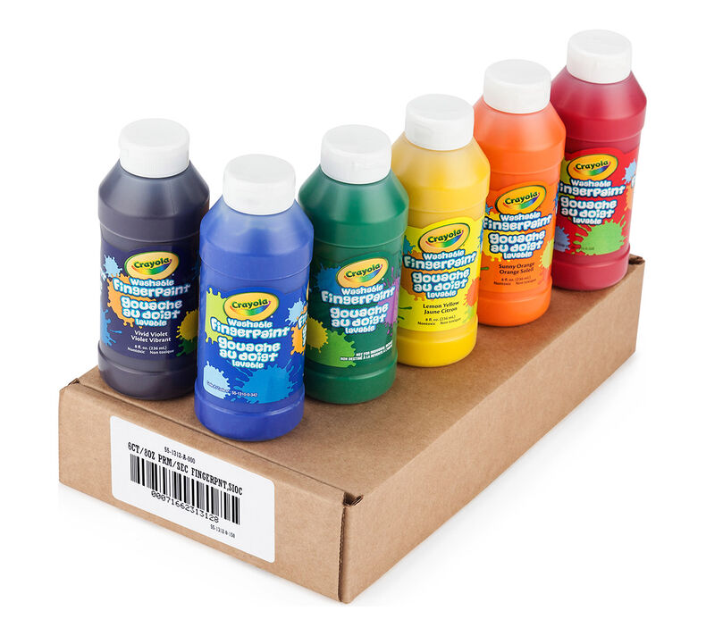 6 Count Washable Fingerpaint