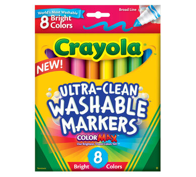 Ultra-Clean Markers, Broad Line, Bright, 8 Count