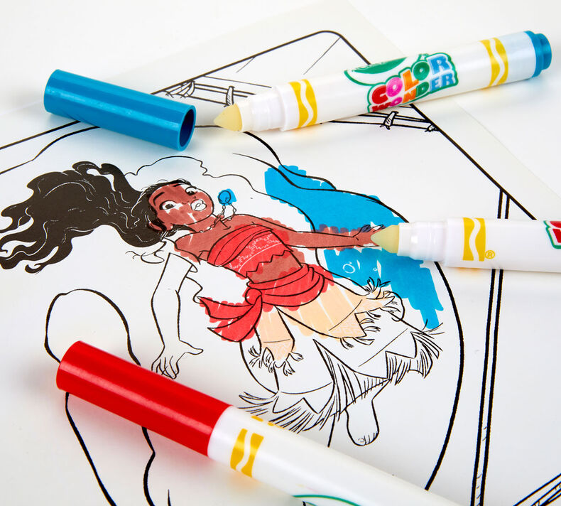 Color Wonder Mess Free Moana Coloring Pages & Markers