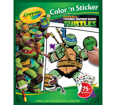 Teenage Mutant Ninja Turtles Color \'n Sticker Book - Crayola