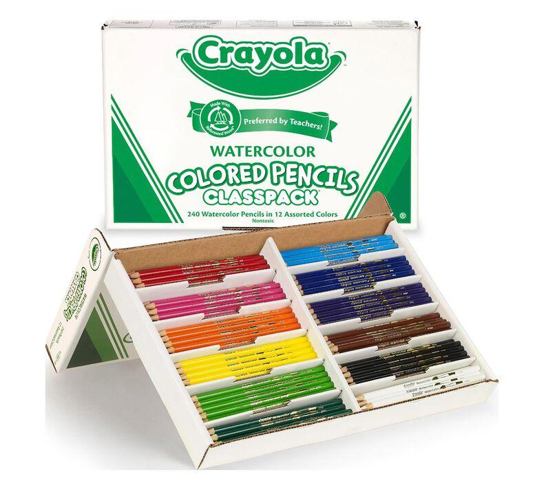 Watercolor Pencils Classpack, 240 Count, 12 Colors