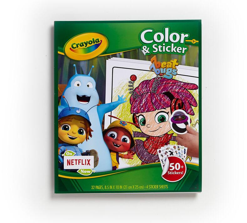Color & Sticker Book, Beat Bugs