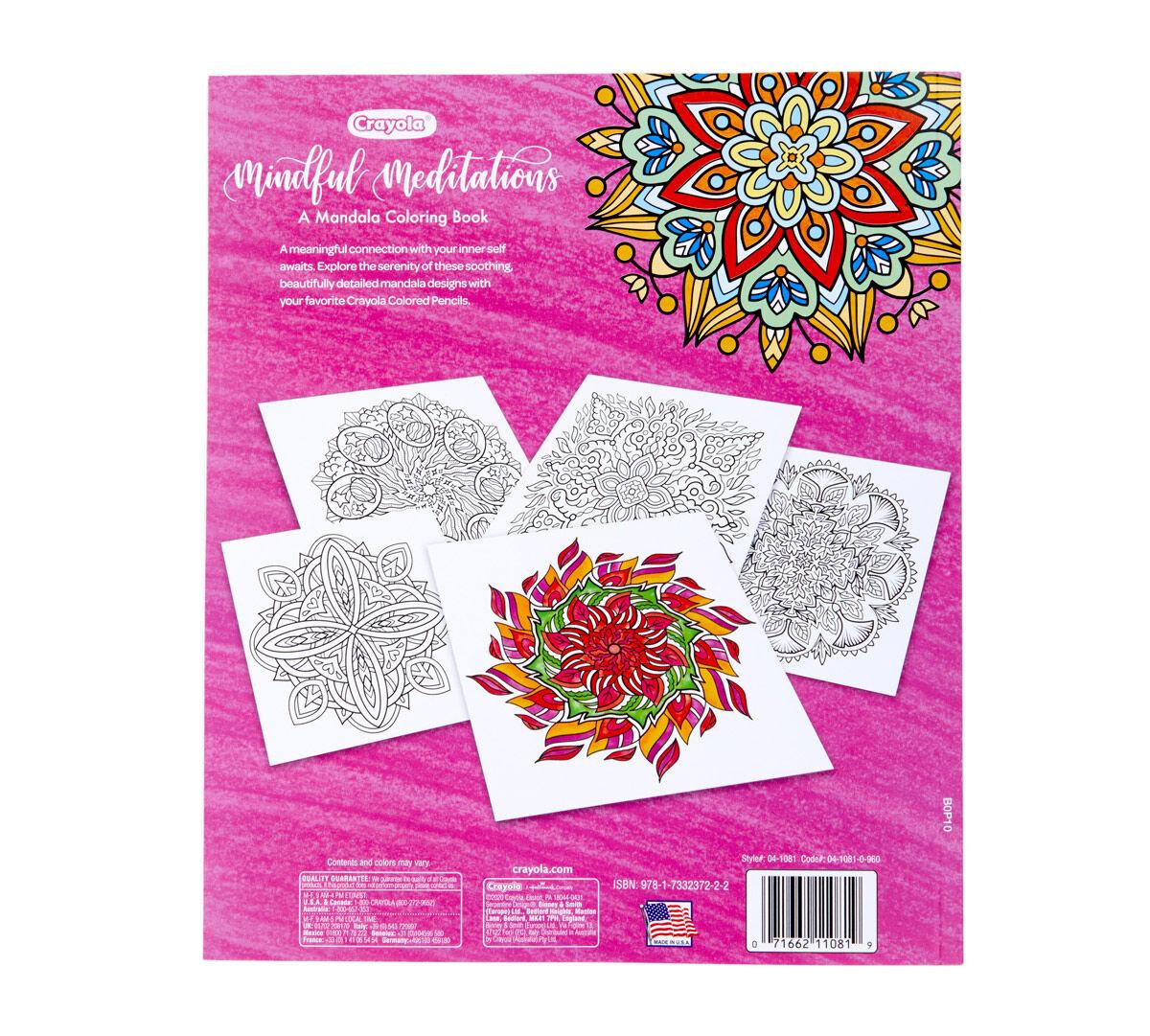 Mandala Coloring Book, 40 Coloring Pages Crayola.com Crayola
