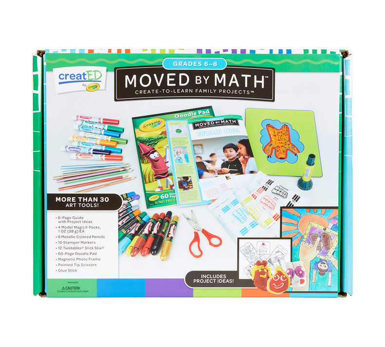creatED Create-to-Learn Math Learning Games Kit, Grades 6-8