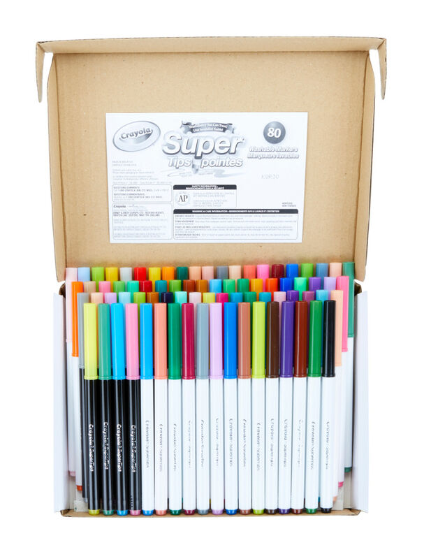 Crayola 80 Count SuperTips Washable Markers