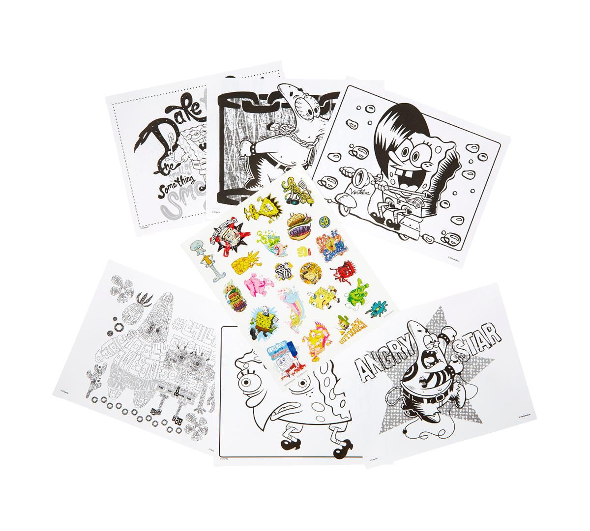 SpongeBob SquarePants Coloring Pages & Stickers Crayola.com Crayola