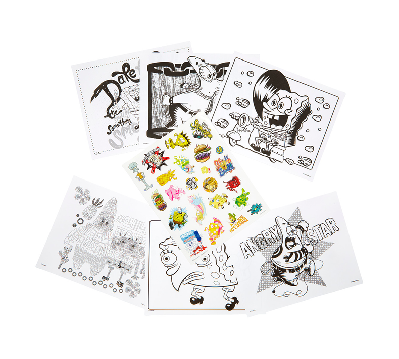 SpongeBob SquarePants Coloring Pages & Stickers | Crayola.com | Crayola