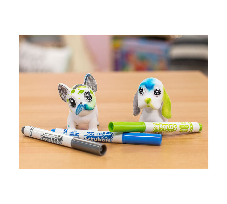 Scribble Scrubbie Pets, Dogs, 2 Count