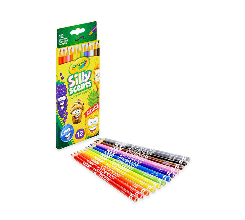 Silly Scents Colored Pencils, Sweet Scents, 12 Count