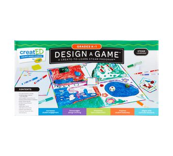 STEAM Design-a-Game for Classrooms for Grades K-1 Front View
