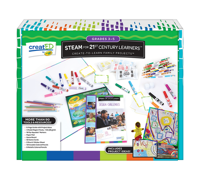 creatED® Family Engagement Kits, STEAM for 21st Century Learning: Grades 3-5: Design Challenges, 30 Count