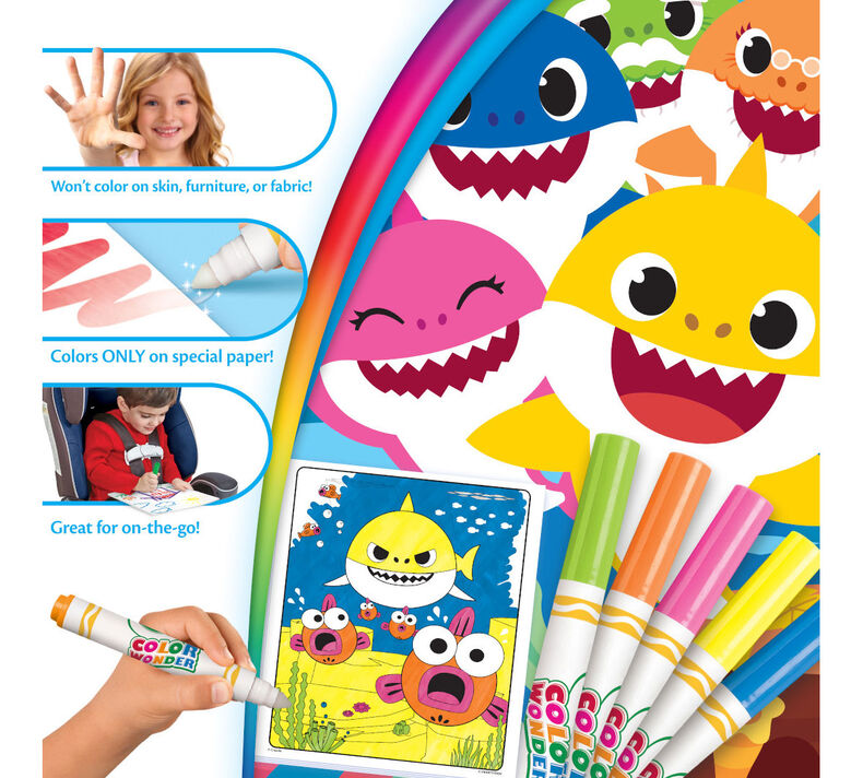 Color Wonder Baby Shark Coloring Pages Set| Crayola.com ...