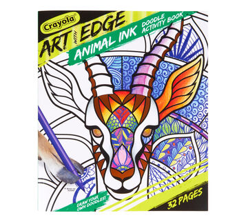 Art With Edge Animal Ink Doodling Coloring Book Front View of Book