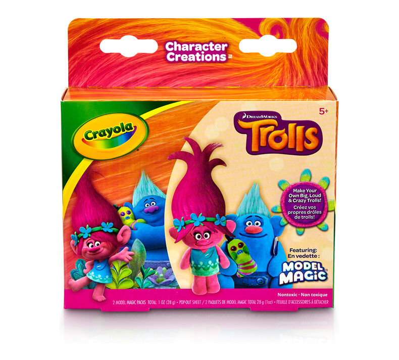 Crayola Model Magic Character Creations Trolls Poppy & Biggie