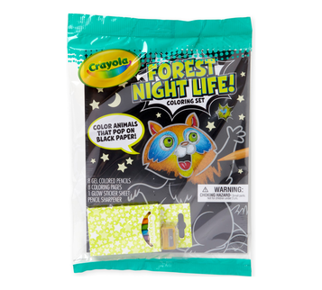 Forest Night Life Coloring Set Front View