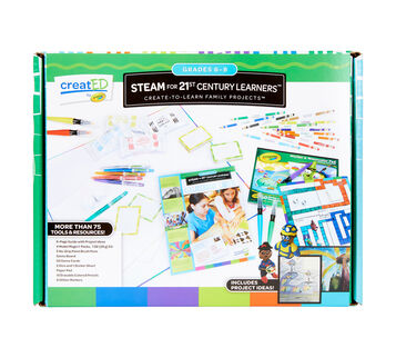 creatED® Family Engagement Kits, STEAM for 21st Century Learning: Grades 6-8: Collaborative Careers, 30 Count Front View