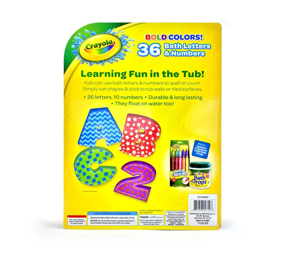 36 Foam Bath Letters Amp Numbers Crayola Com Crayola