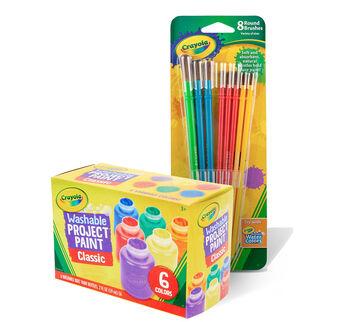 Washable Kid's Paint with Brush Set