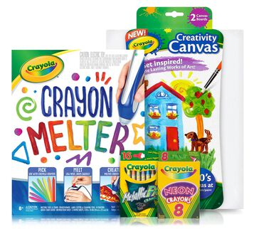 Crayon Melter Deluxe Kit front view of products included