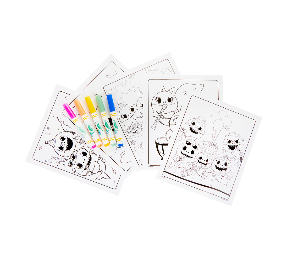 Crayola Color Wonder Baby Shark Coloring Pages Mess Free ...